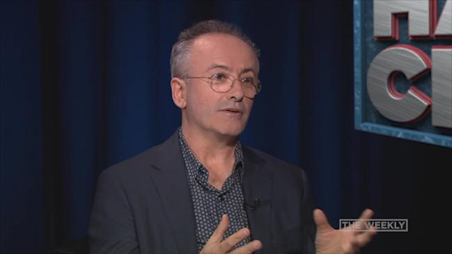 Andrew Denton gets grilled by Tom Gleeson on Hard Chat