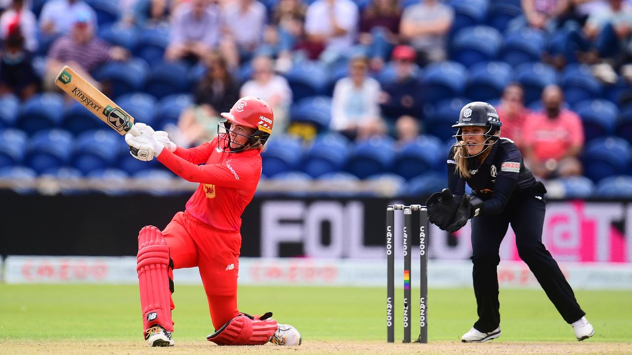 Georgia Redmayne (left) in action for the Welsh Fire in The Hundred. Picture: Harry Trump/Getty Images)