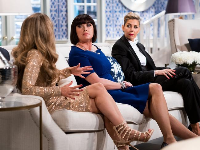 The Real Housewives of Sydney stars in a scene from the reunion special. Picture: Supplied/Foxtel