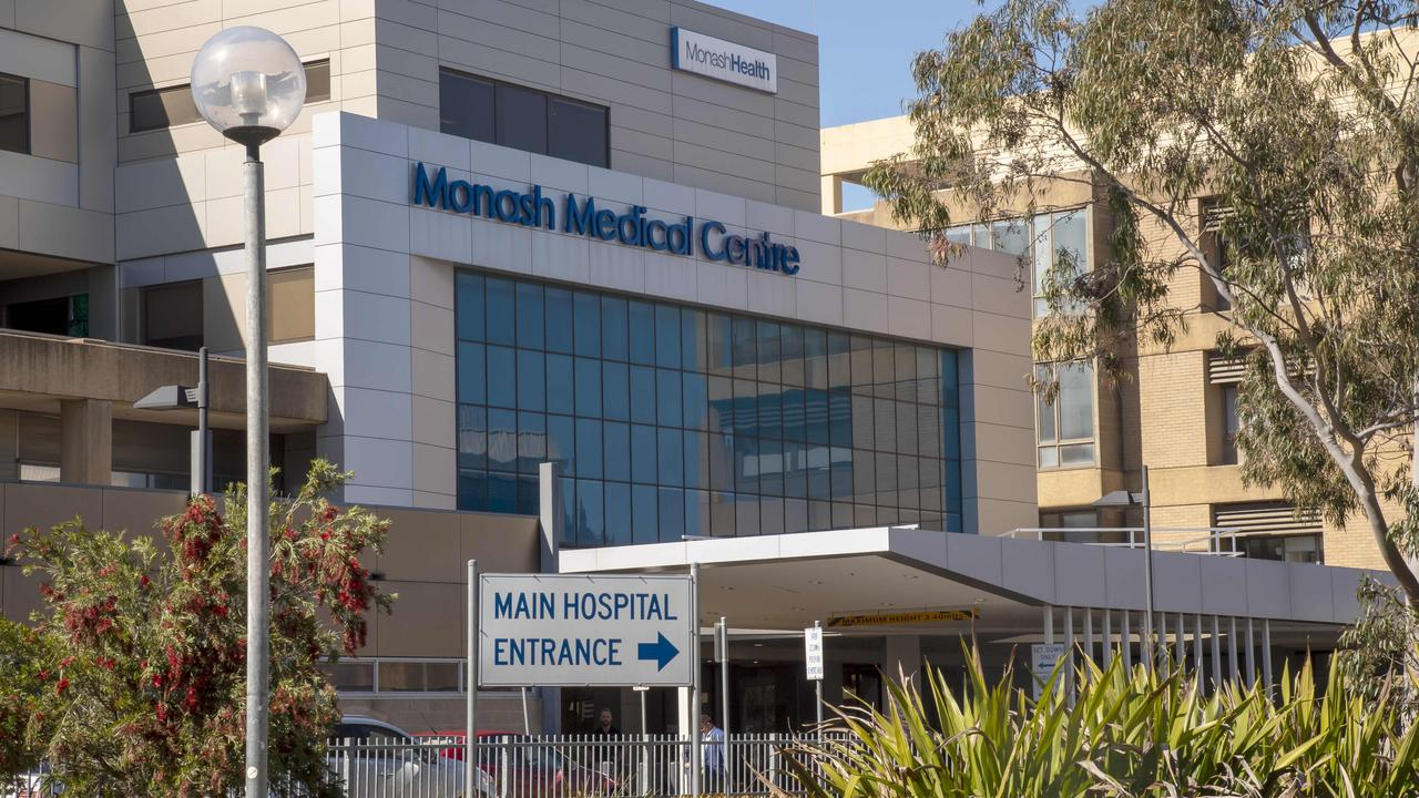 The man is currently being treated at Monash Medical Centre in Clayton, Melbourne. Picture: Andy Brownbill.