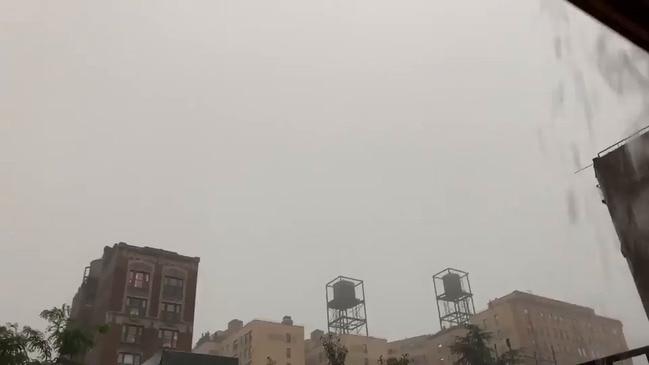 Vivid Lightning Flashes During Severe New York Storm