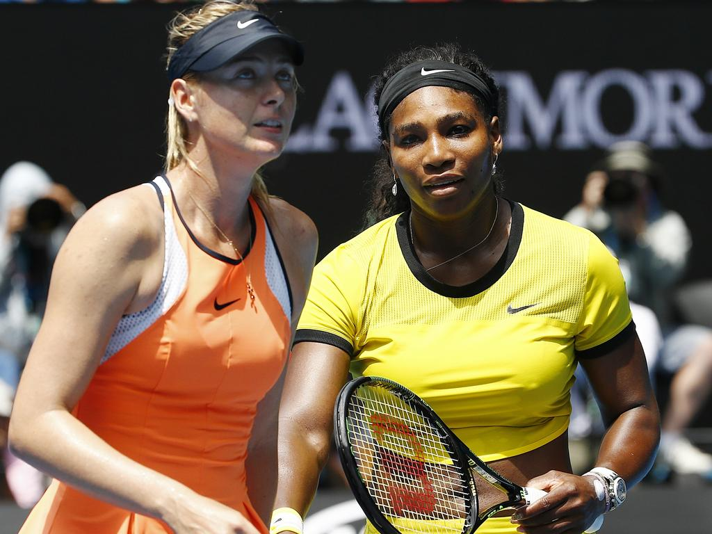 The pair had a famously frosty rivalry on the court. Picture: Colleen Petch