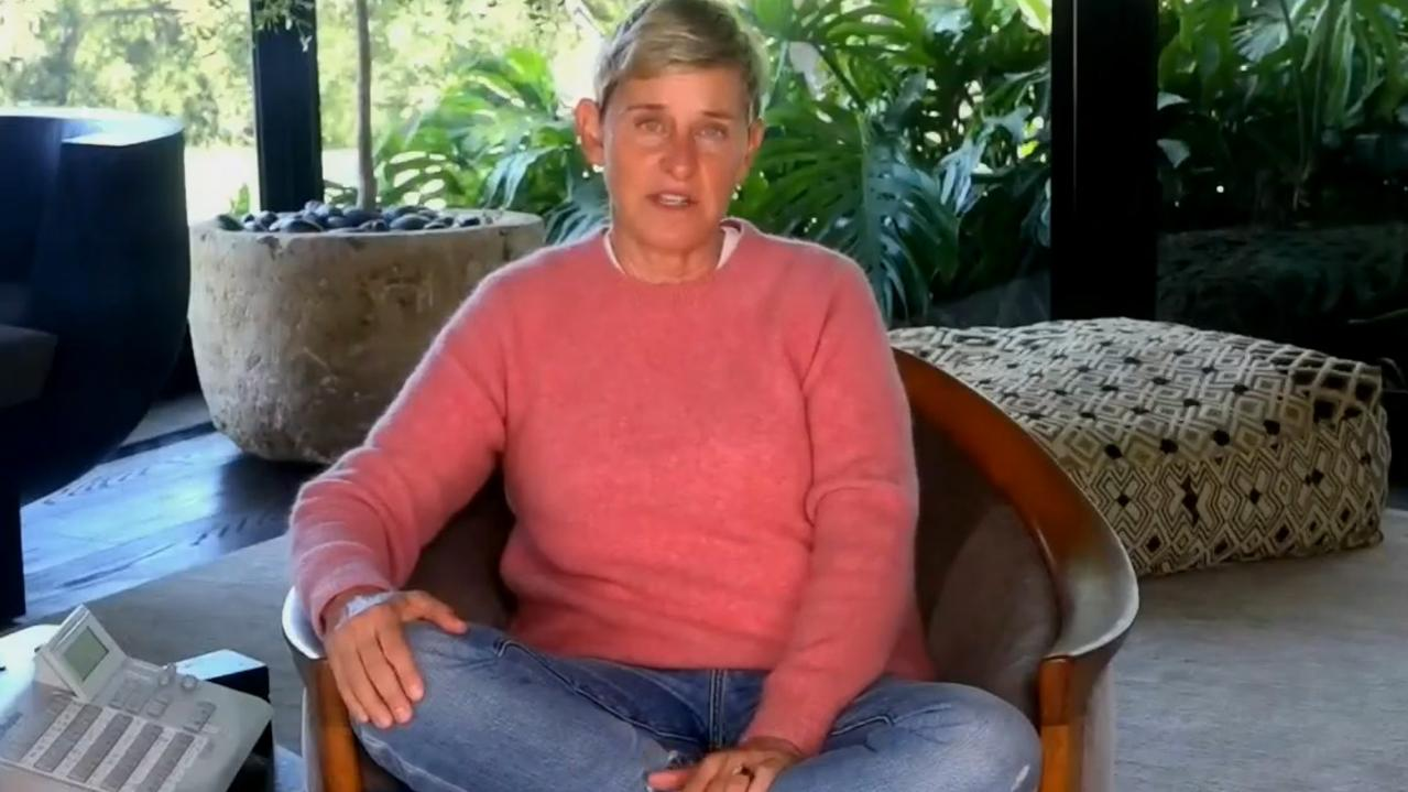 Ellen DeGeneres' at-home special was slammed early on after she likened quarantining from her mansion to being in prison. Picture: YouTube.