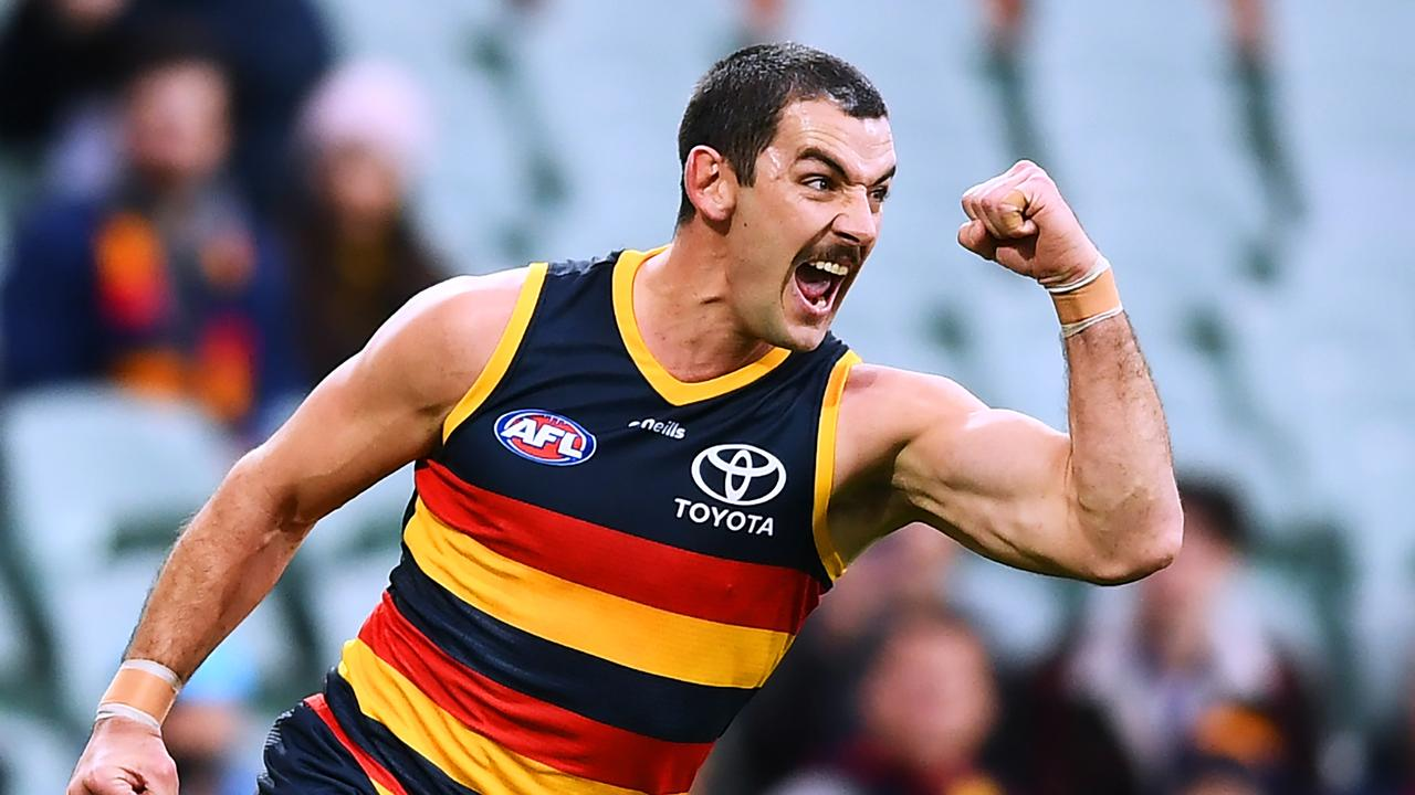 Taylor Walker returned from injury to boot the first goal of the game and give Adelaide the lead at quarter time. (Photo by Mark Brake/Getty Images)