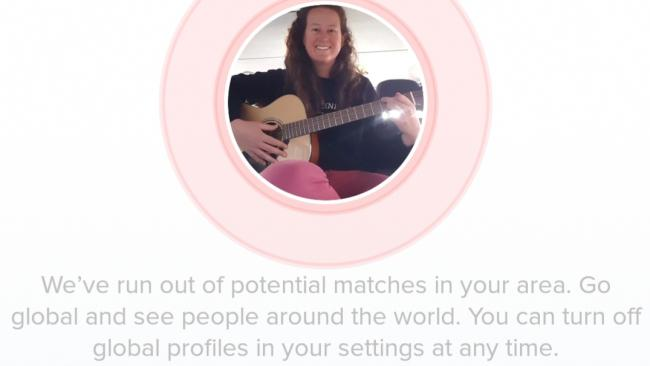 You know the situation is dire when Tinder says this. Picture: Supplied