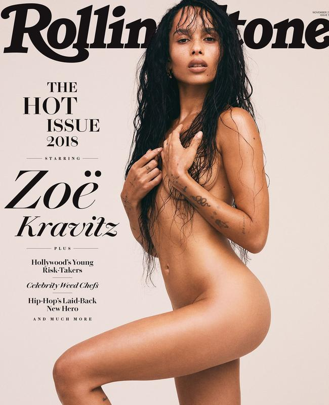Zoe Kravitz recreates mother Lisa Bonet's Rolling Stone cover from 30 years ago. Picture: Rolling Stone