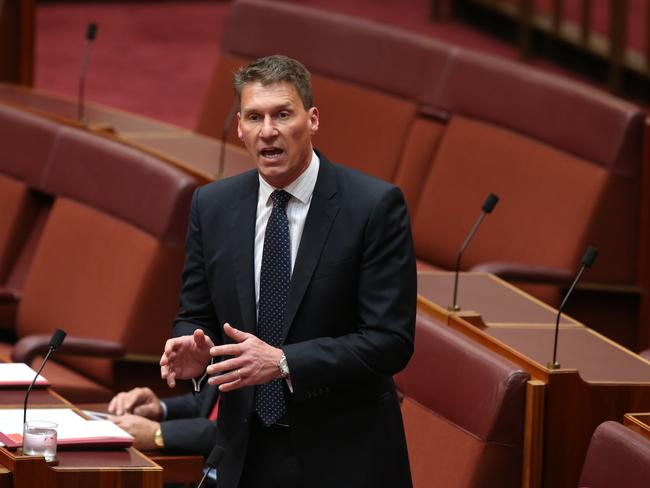 """Senator Cory Bernardi declared the return of carbon pricing to the agenda the """"dumbest thing"""" he had ever heard. Picture Kym Smith"""