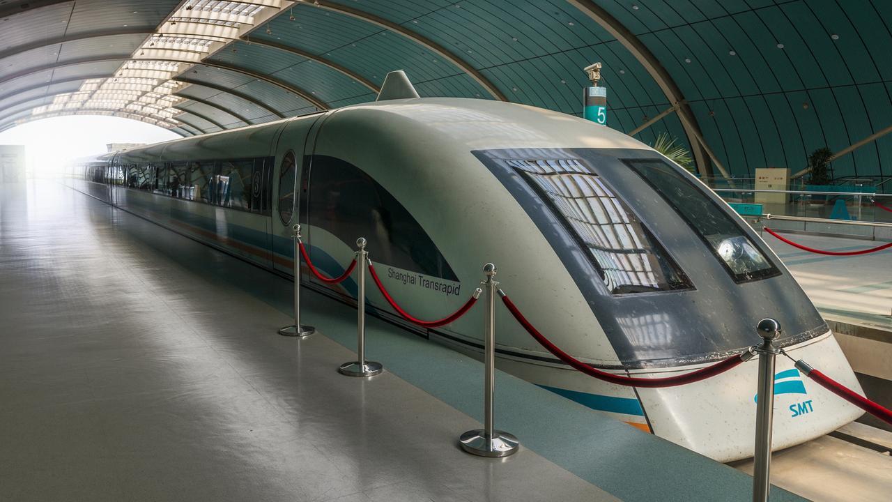 Shanghai Maglev Train in station
