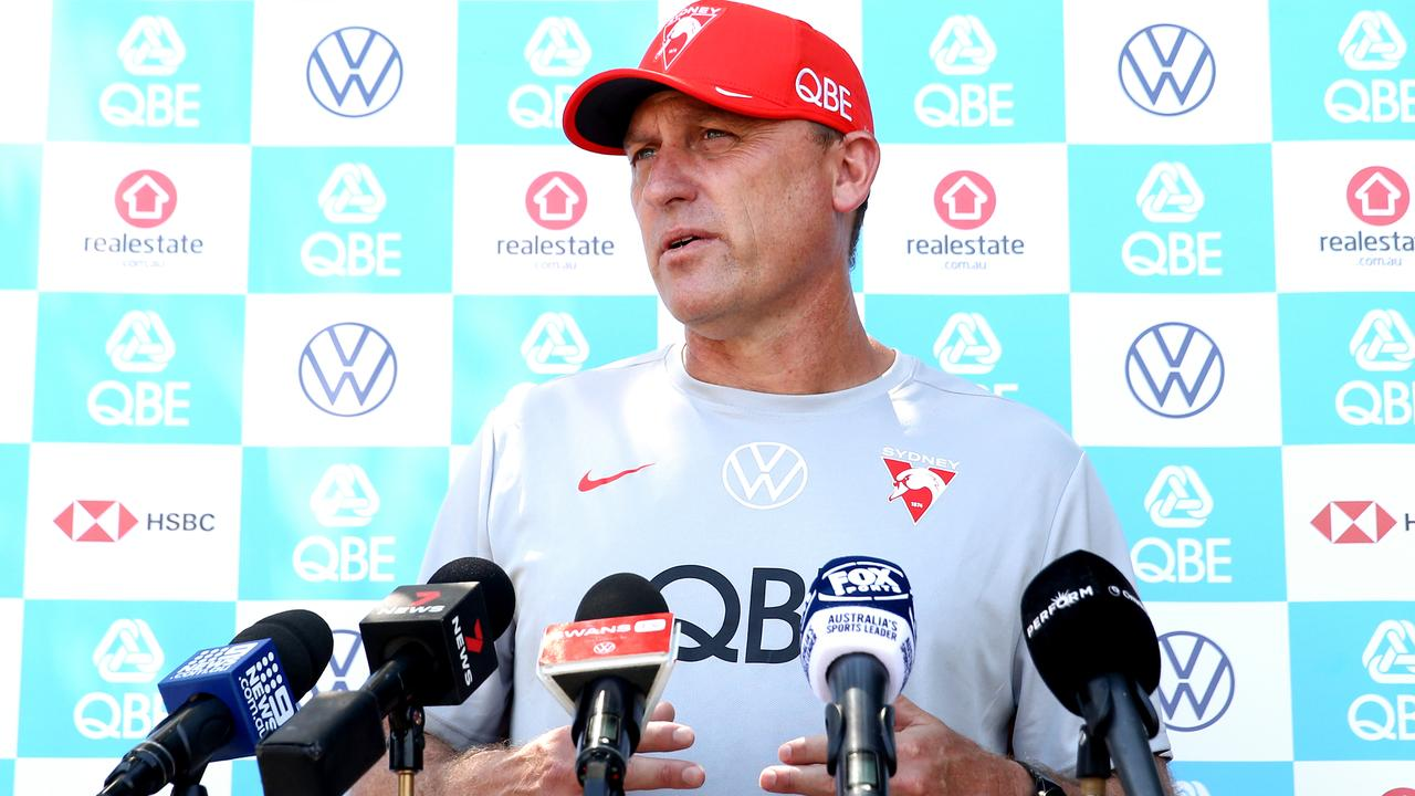 John Longmire has issued a plea to AFL headquarters (Photo by Brendon Thorne/Getty Images).