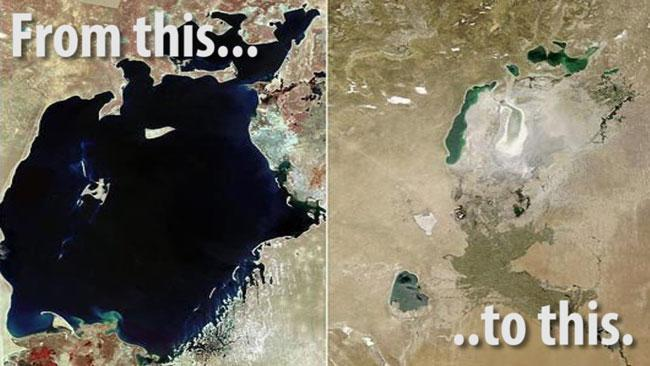 Watch the Aral Sea disappear