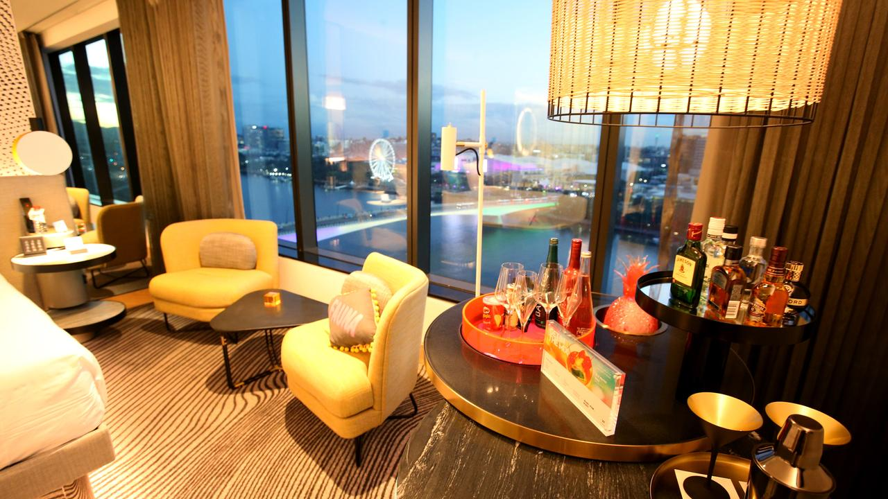 A first look at the luxury suites at the W Brisbane hotel. Picture: AAP/Steve Pohlner