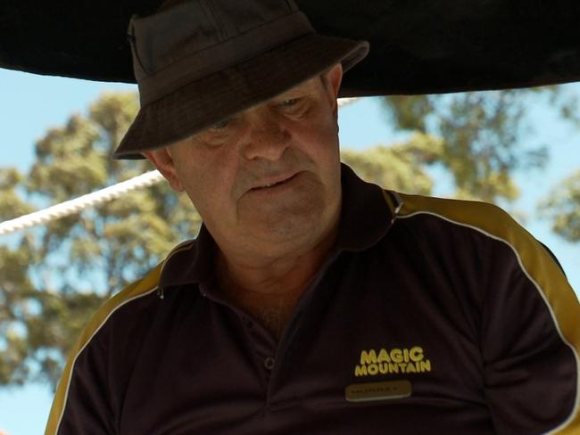 Murray working at Magic Mountain. Picture: Supplied