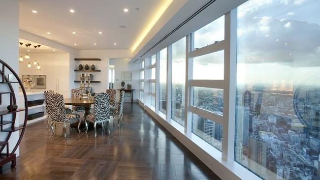84/7 Riverside Quay, Southbank. The kitchen and meals area of this apartment lets you look down on the rat race below