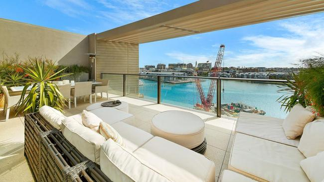 This penthouse apartment, which almost doubled to $6m, is one of the few Barangaroo properties available after Chinese investors have flocked to buy. Picture: RPData.