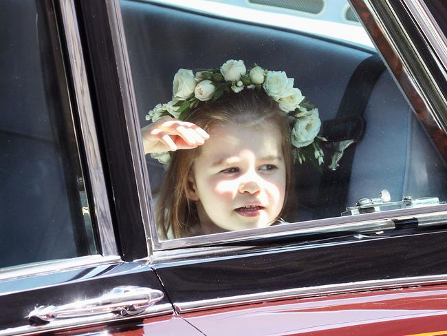 Princess Charlotte and her flower crown.
