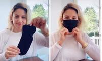 How to make a DIY face mask using an old sock