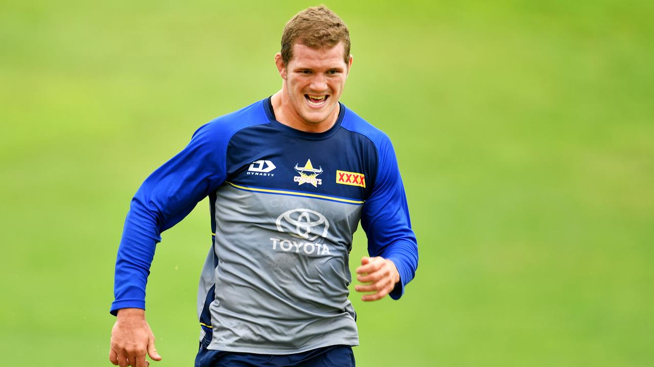 NRL; North Queensland Cowboys pre-season training at Willows Sports Complex. Tom Gilbert . Picture: Alix Sweeney