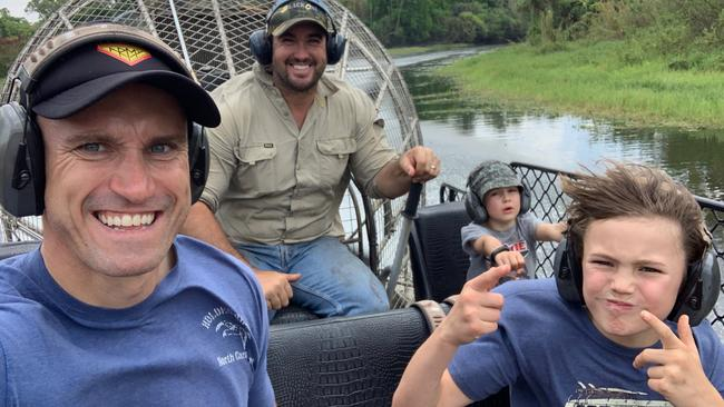 Fitzy on a Darwin Top End Safari Camp. Picture: Supplied