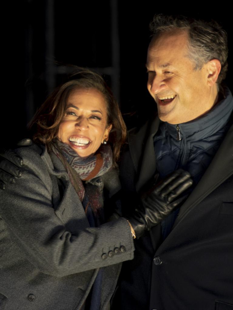 Kamala Harris and husband Douglas Emhoff. Picture: Mark Makela/Getty Images/AFP