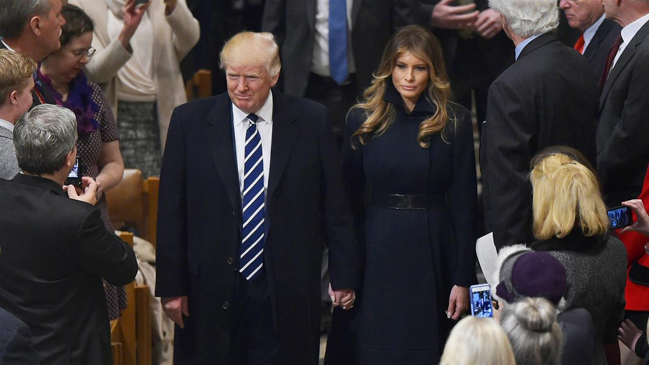 President Trump Attends Service at National Cathedral