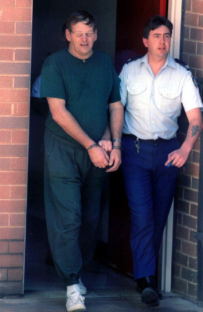 Arthurell is led from Dubbo court after being charged with Venet Mulhall's murder in 1995. Picture: News Corp