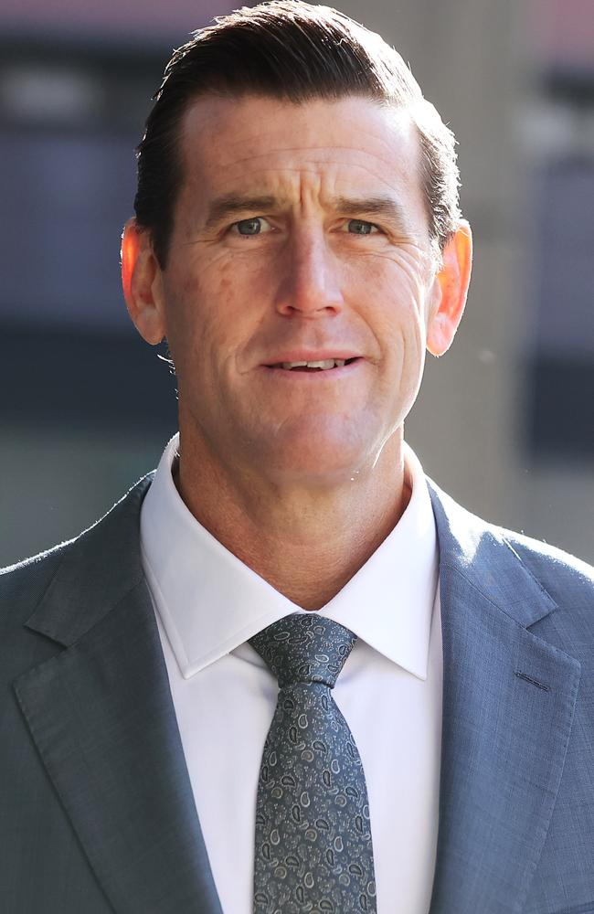 Former SAS soldier, Ben Roberts-Smith, arrives at the Federal Court last month for his defamation trial. Picture: David Swift/NCA NewsWire
