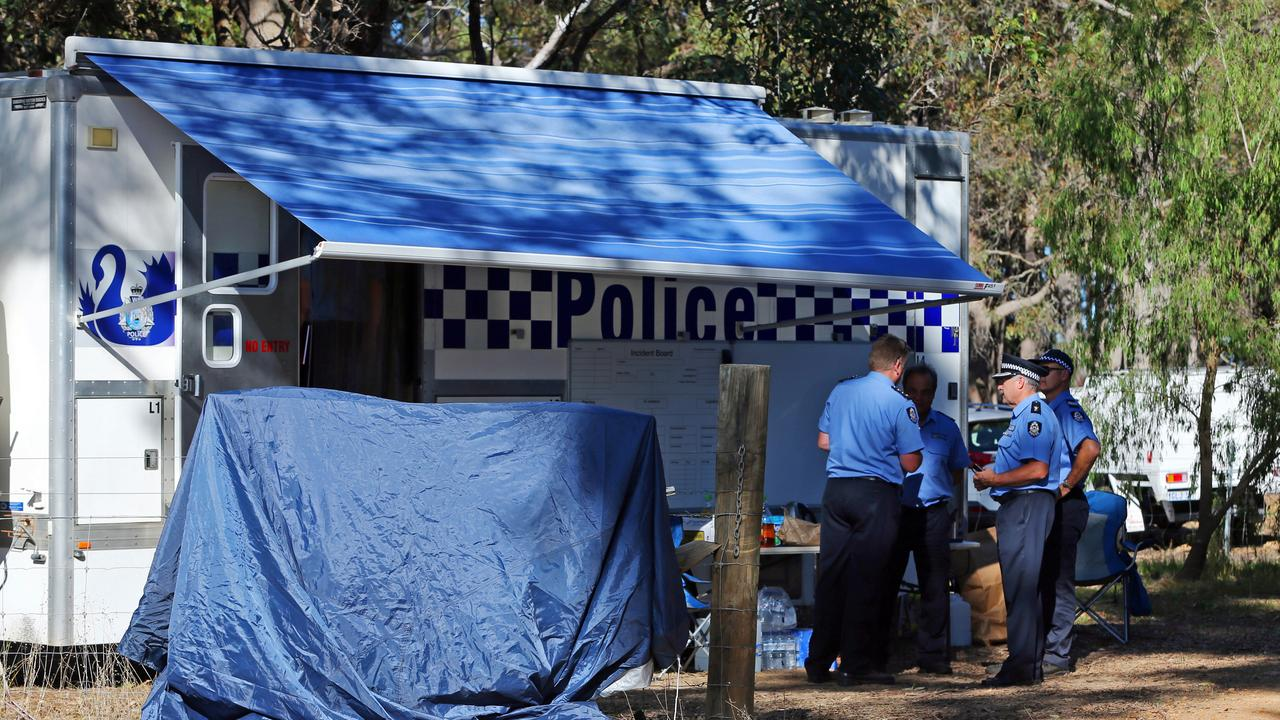 Forensic police investigating the shooting. Picture: AAP