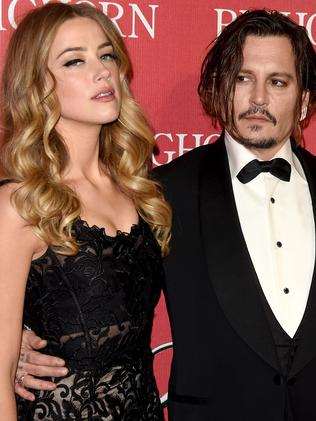 Amber Heard and Johnny Depp. Picture: Getty