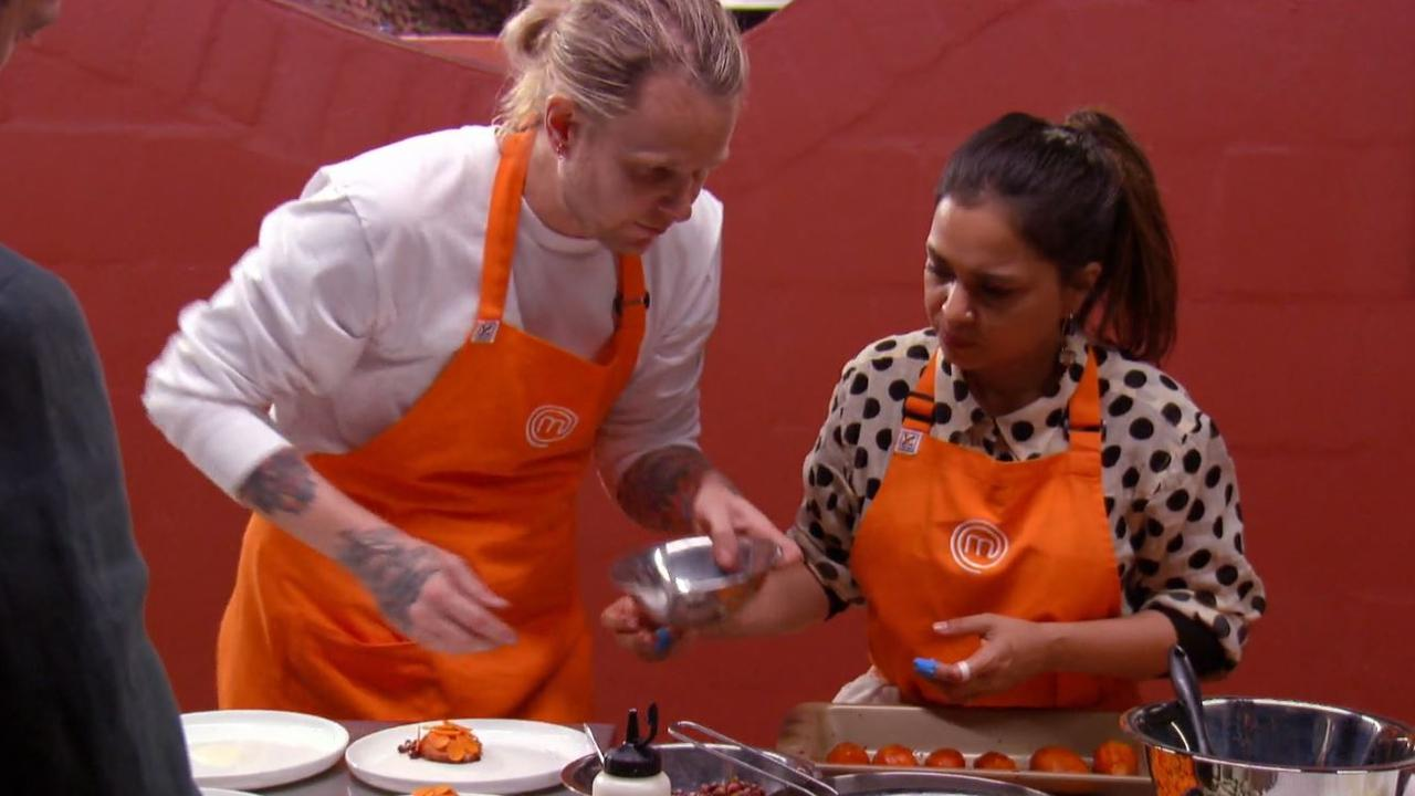 Pete and Kishwar face trouble during the service challenge in the Northern Territory. Picture: Channel 10