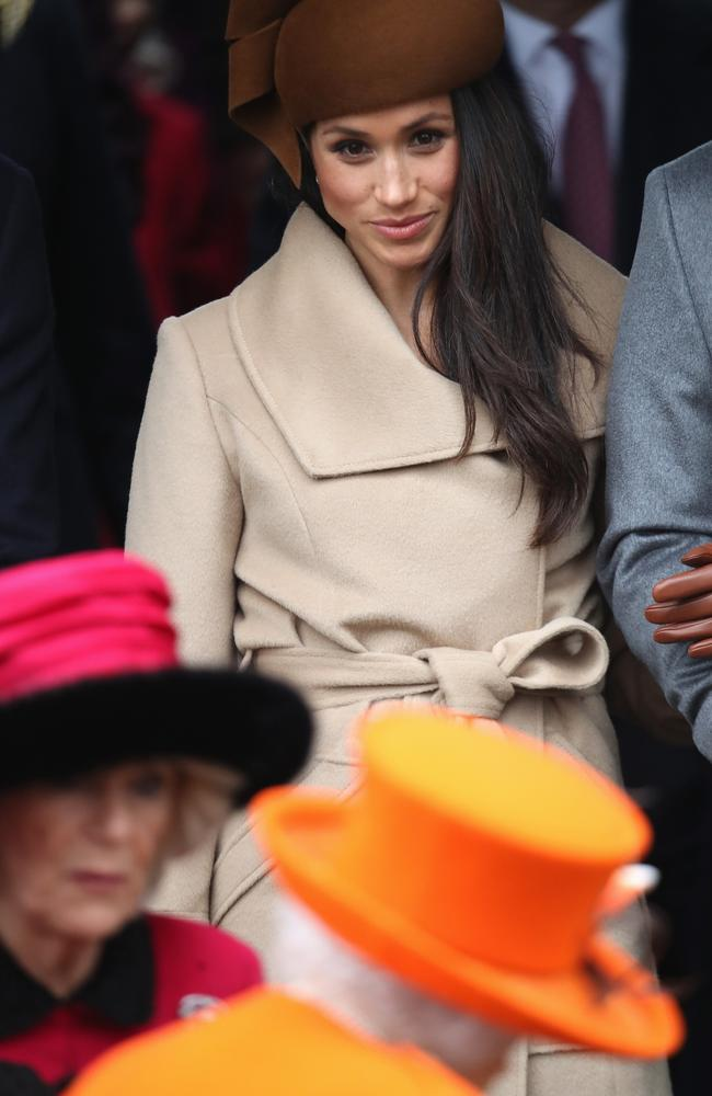 Meghan Markle attends Christmas Day Church service at Church of St Mary Magdalene in King's Lynn, England. Picture: Getty