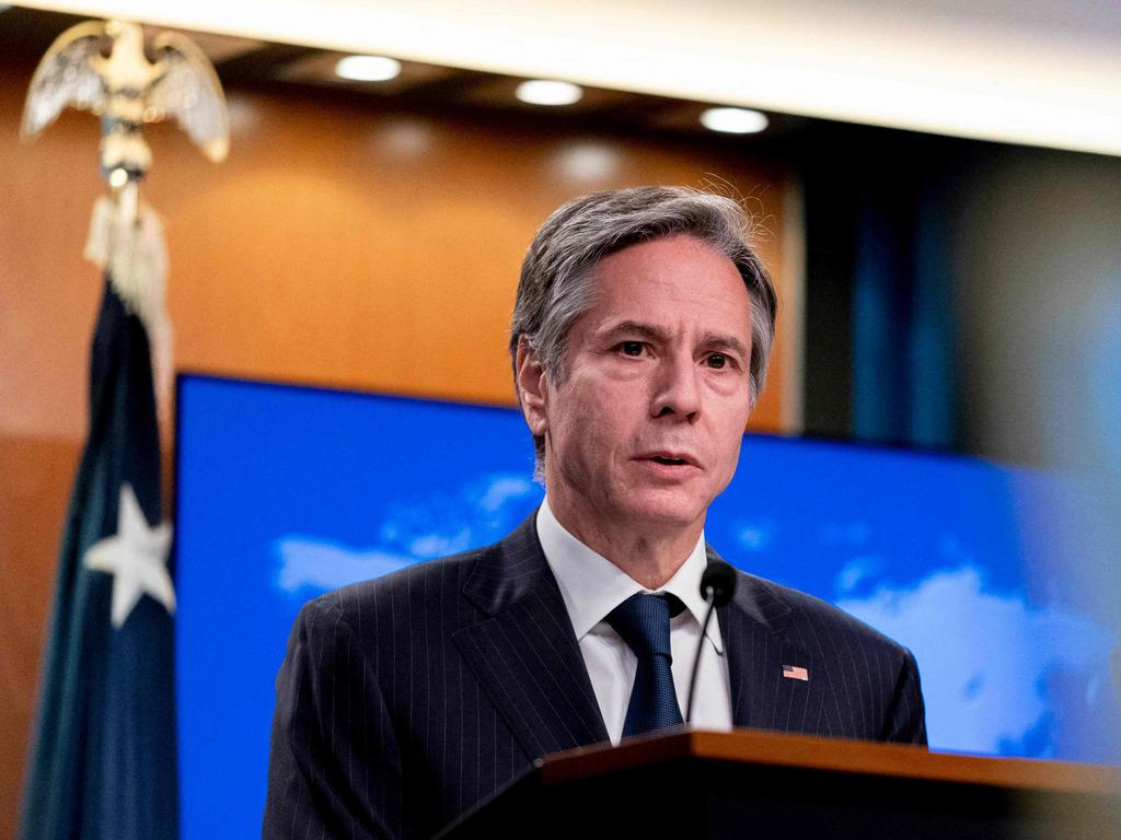 """US Secretary of State Antony Blinken said they were not seeking to hold China back. """"We are seeking … to uphold the rules-based international order,"""" he said. Picture: Andrew Harnik/AFP"""
