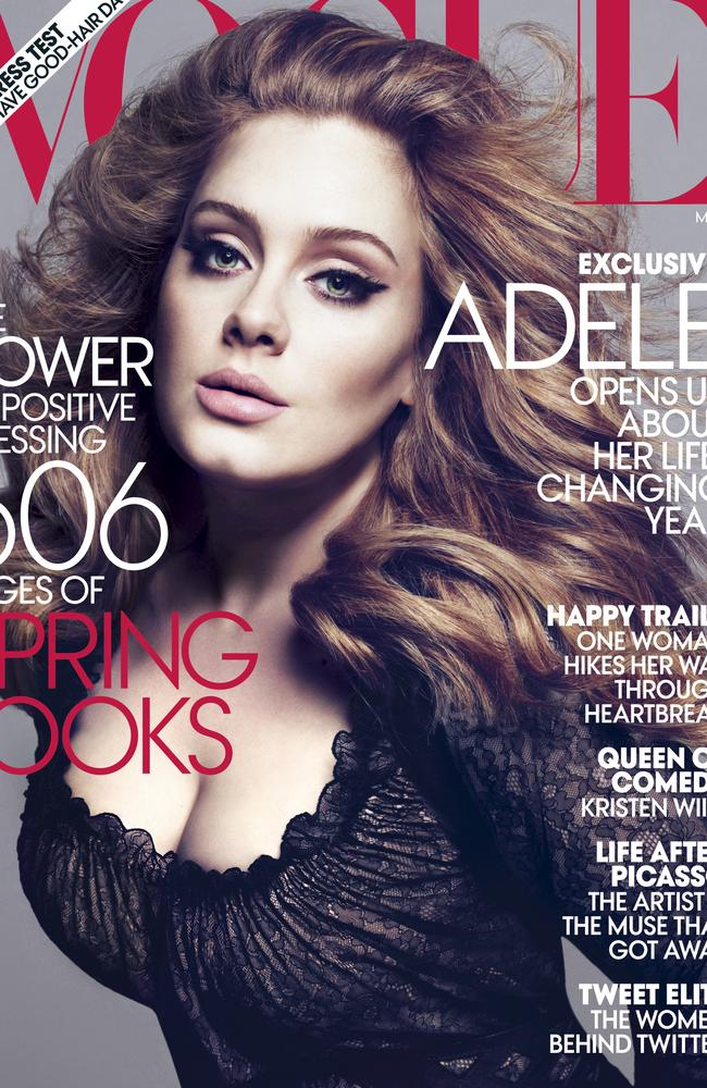 Adele previously covered Vogue around the time of her last album, pictured here. Photo: Vogue