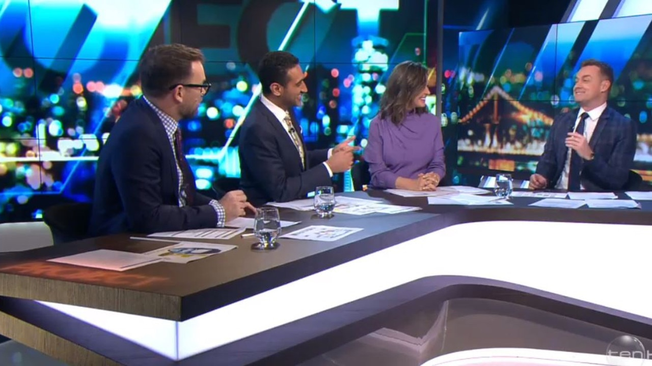 """Denyer said he """"felt terrible"""" about Tom Gleeson's appearance on The Project. Picture: Channel 10"""