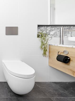 Not sure about the black loo roll. Picture: The Block
