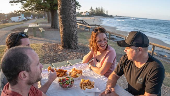 2/10Moffat Beach While not patrolled for swimming, Moffat Beach is undeniably one of the prettiest beaches on the Sunshine Coast. Popular with longboarders who ride waves that peel in around the headland, this is a cracking spot for a beachside picnic in the park shaded by towering Norfolk Pines. Kids can run wild in the playground built around a majestic old Moreton Bay Fig and there's great coffee and post-surf feeds to be found at Pocket Espresso across the street. Fire up a BBQ with views over Tooway Creek, wander the backstreets to find original beach shacks that once proliferated here, and walk up the headland to the Ma and Pa Memorial for the best vantage point over it all. Picture: Tourism & Events Qld