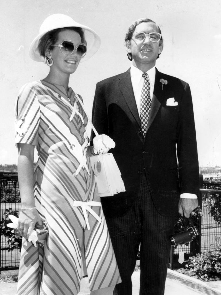 Andrew Peacock with his wife Susan in 1971.