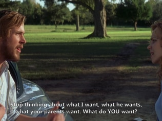 What do YOU want? Image: The Notebook