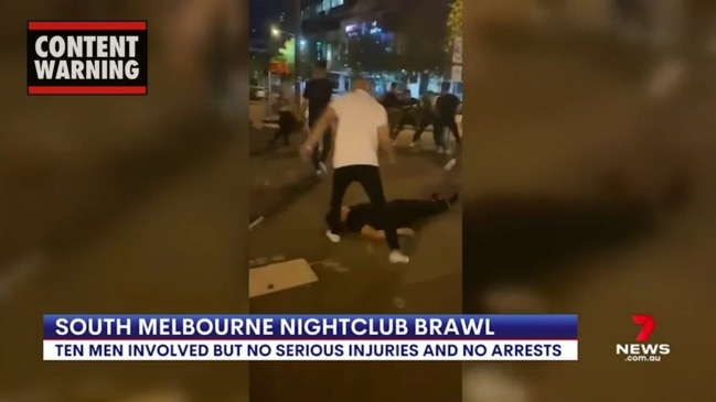 Man stomped on outside Melbourne nightclub (7 News)