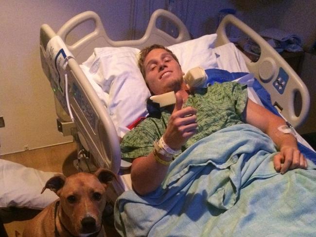 BMX star Sam Willoughby in hospital.