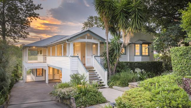 This riverfront home at 87a Bank Street, Graceville, has sold for $3.056m.