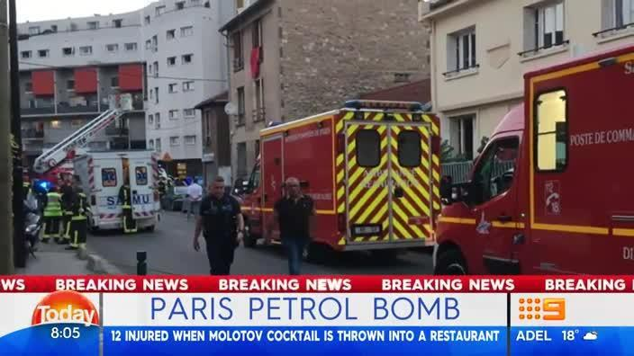 Twelve people reportedly injured in Paris molotov cocktail attack