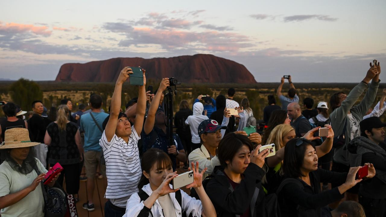 There has been a huge spike in the number of visitors to the site. Picture: AAP Image/Lukas Coch