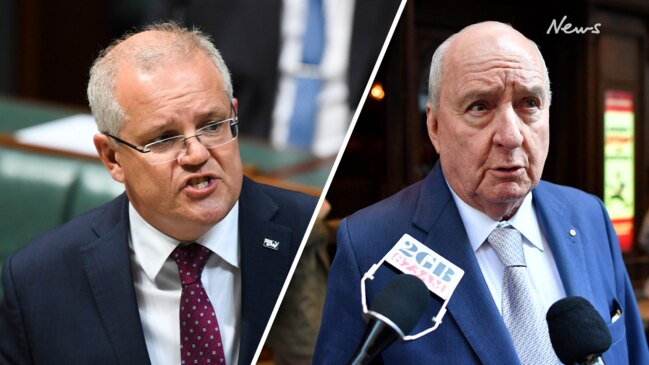Scott Morrison in tense interview with Alan Jones following emotional phone call from farmer