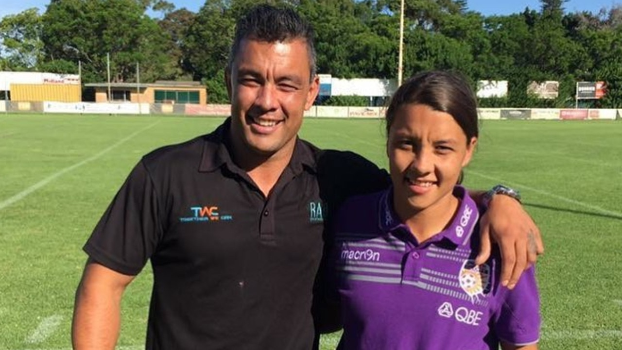 Daniel Kerr with his sister, soccer star Sam Kerr. Picture: Instagram/Supplied