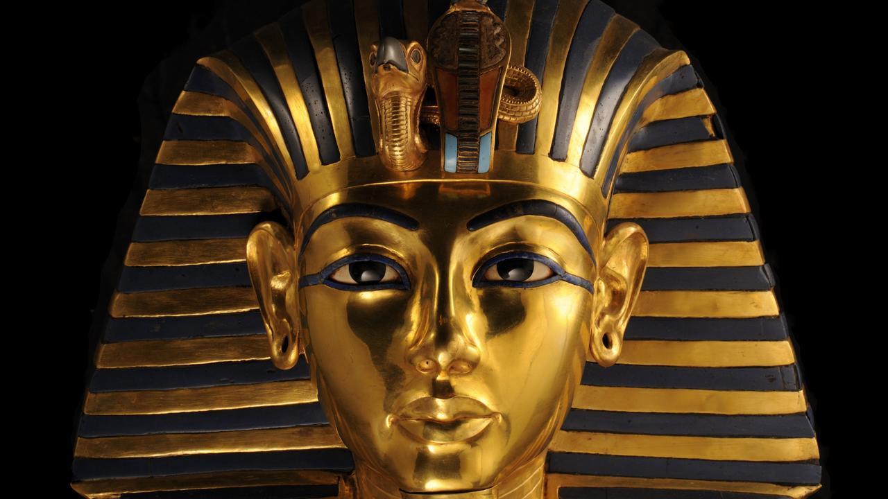 Antique Egyptian Sarcophagus Ancient Middle Kingdom Funerary Tutankhamun Coffin
