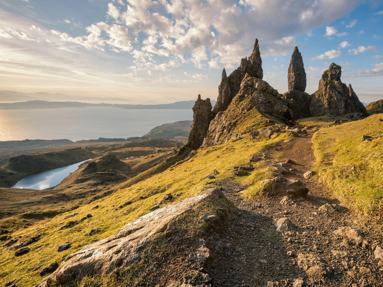 Isle of Skye, Scotland. The Old Man of Storr at sunrise