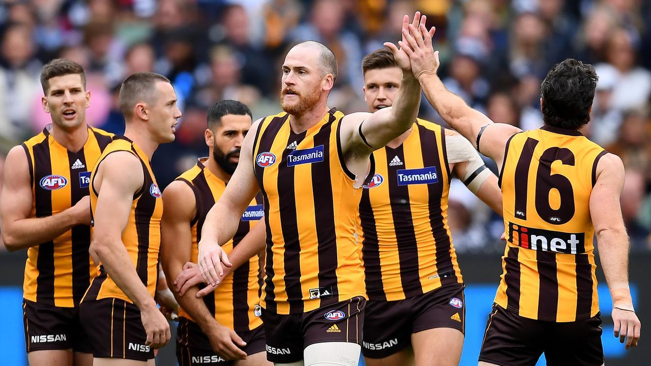 Jarryd Roughead of the Hawks will face Sydney.