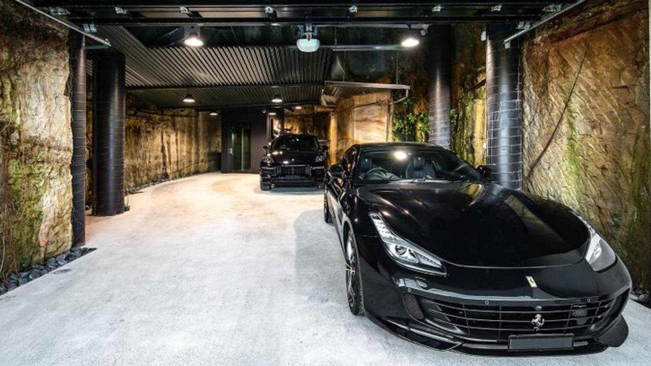A five-car garage is a rare find.