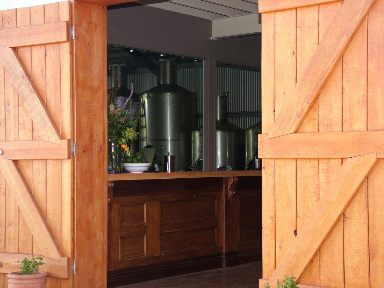 The cellar door at the Witches Falls Winery in the Mt Tamborine wine region.