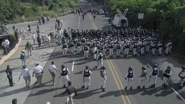 Mexican Forces Surround Central American Migrant Caravan Between Ciudad Hidalgo and Tapachula